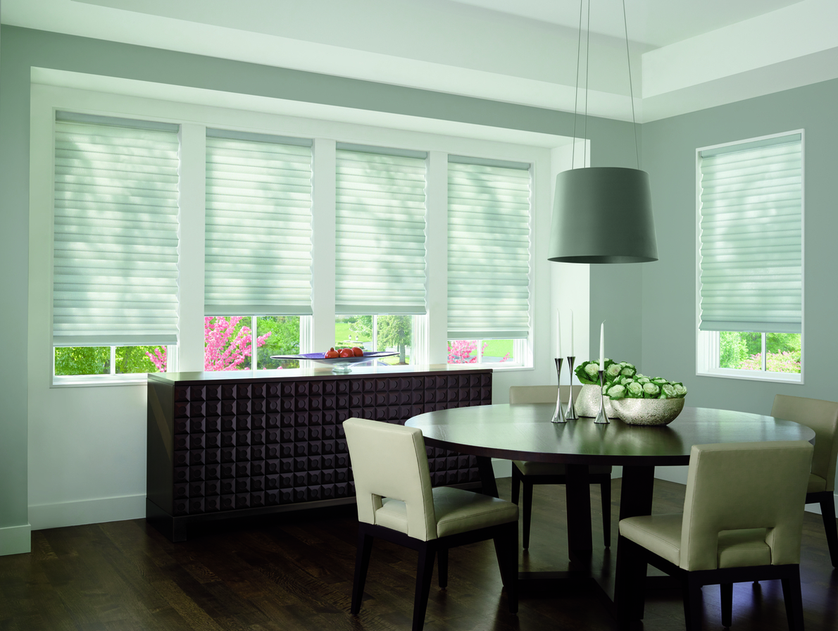 Custom Styles of Roman Shades in Dining Rooms for Homes in Spring Valley, New York (NY)