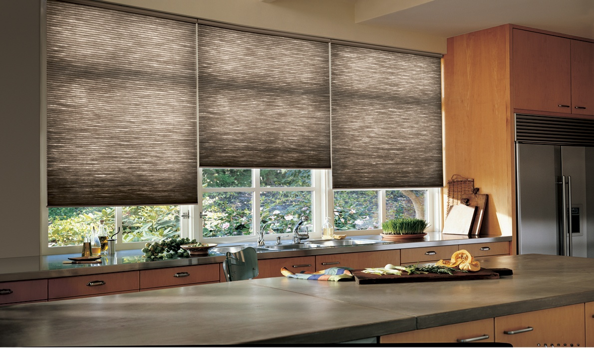 Honeycomb Cellular Shades in Kitchen for Spring Valley, New York (NY) Home.