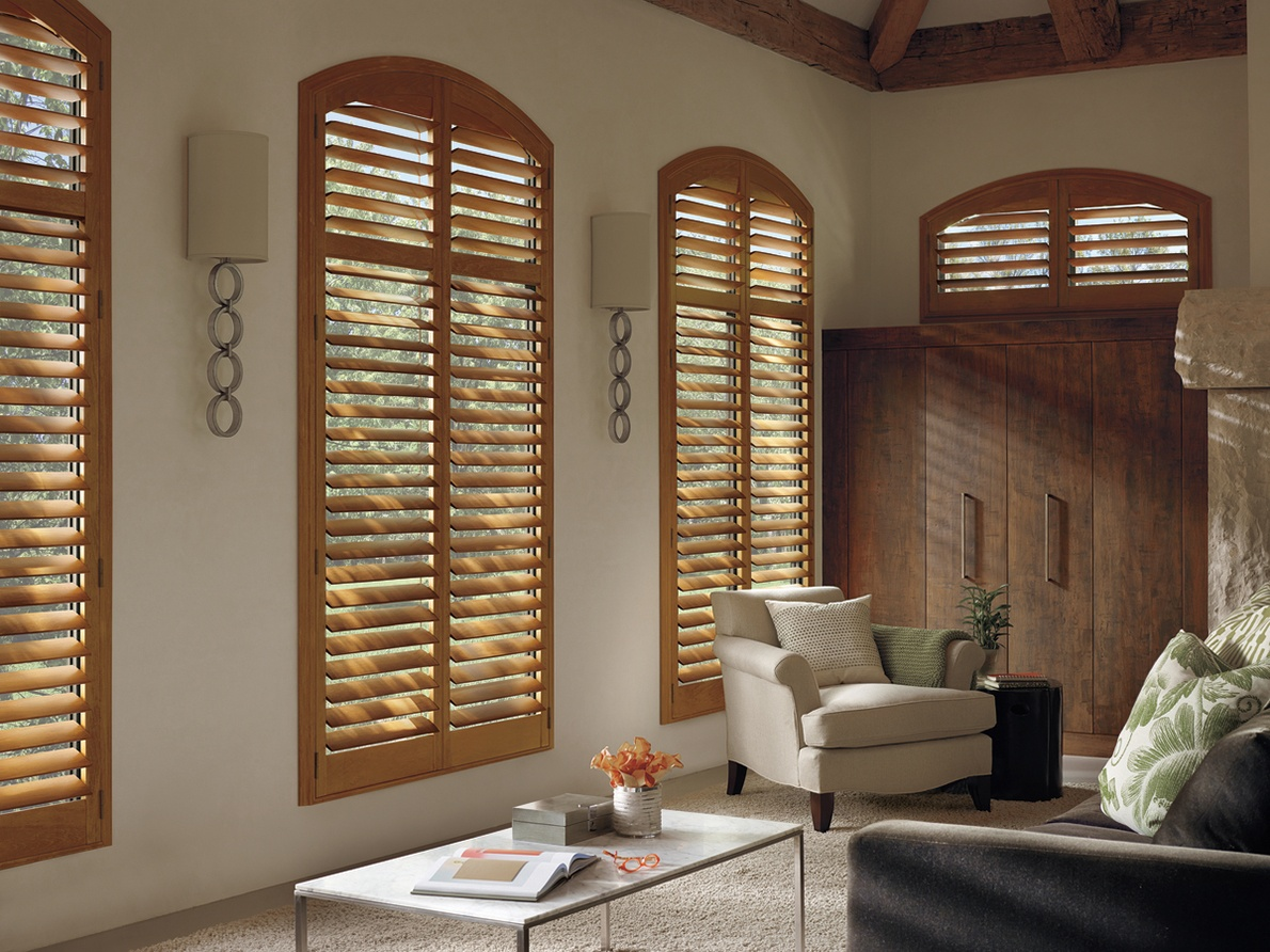 Custom Hardwood Heritance Hunter Douglas Shutters in Spring Valley, New York (NY)