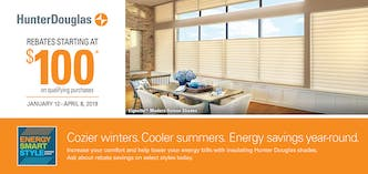 Hunter Douglas Duette Honeycomb Shades Promotion in Spring Valley, NY