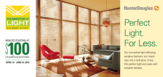 Hunter Douglas Celebration of Light Window Treatment Savings in Spring Valley, New York (NY)