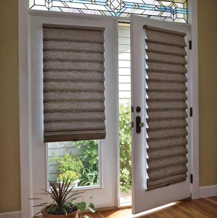 Solutions for Specialty-Shaped Home Windows Near Saddle River, New Jersey like French Door Roman Shades